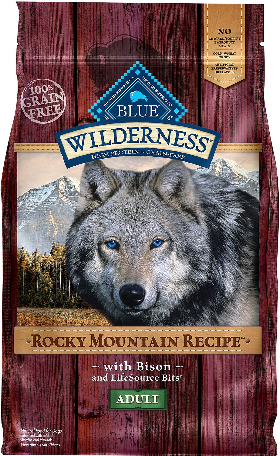 Blue Buffalo Wilderness Rocky Mountain Recipe with Bison Adult Grain-Free Dry Dog Food Image