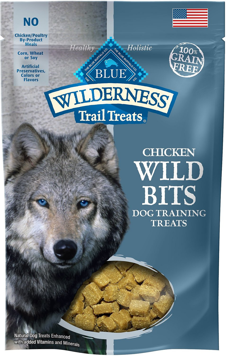 Blue Buffalo Wilderness Trail Treats Chicken Wild Bits Grain-Free Training Dog Treats, 4-oz bag