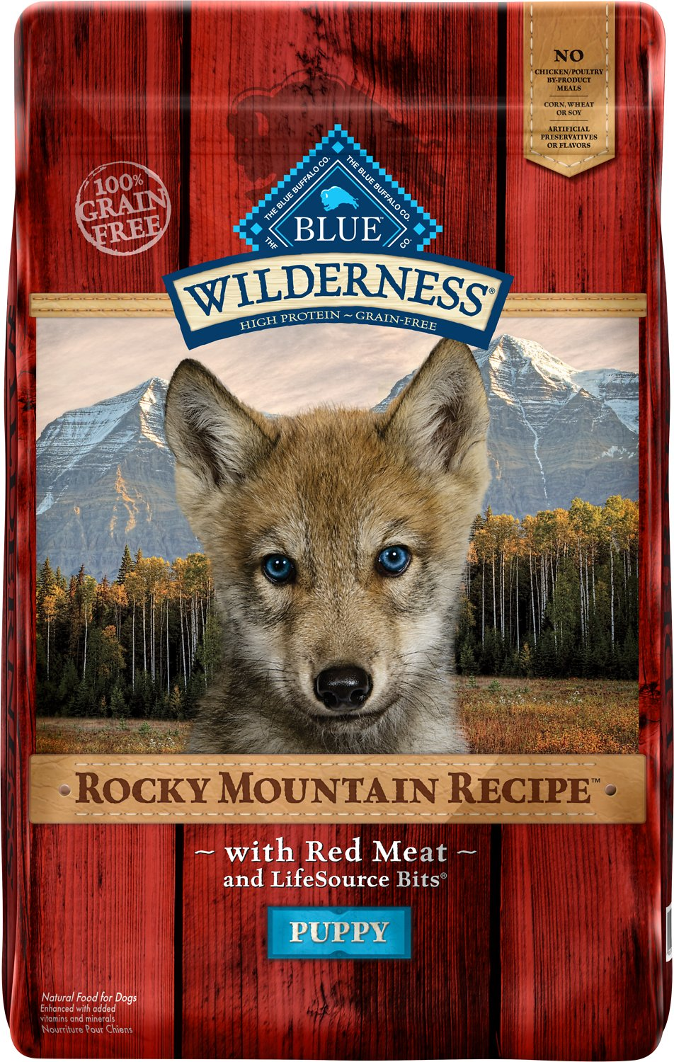 Blue Buffalo Wilderness Rocky Mountain Recipe with Red Meat Puppy Grain-Free Dry Dog Food Image