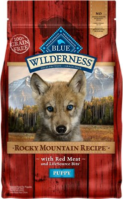 Blue Buffalo Wilderness Rocky Mountain Recipe with Red Meat Puppy Grain-Free Dry Dog Food, 4-lb bag