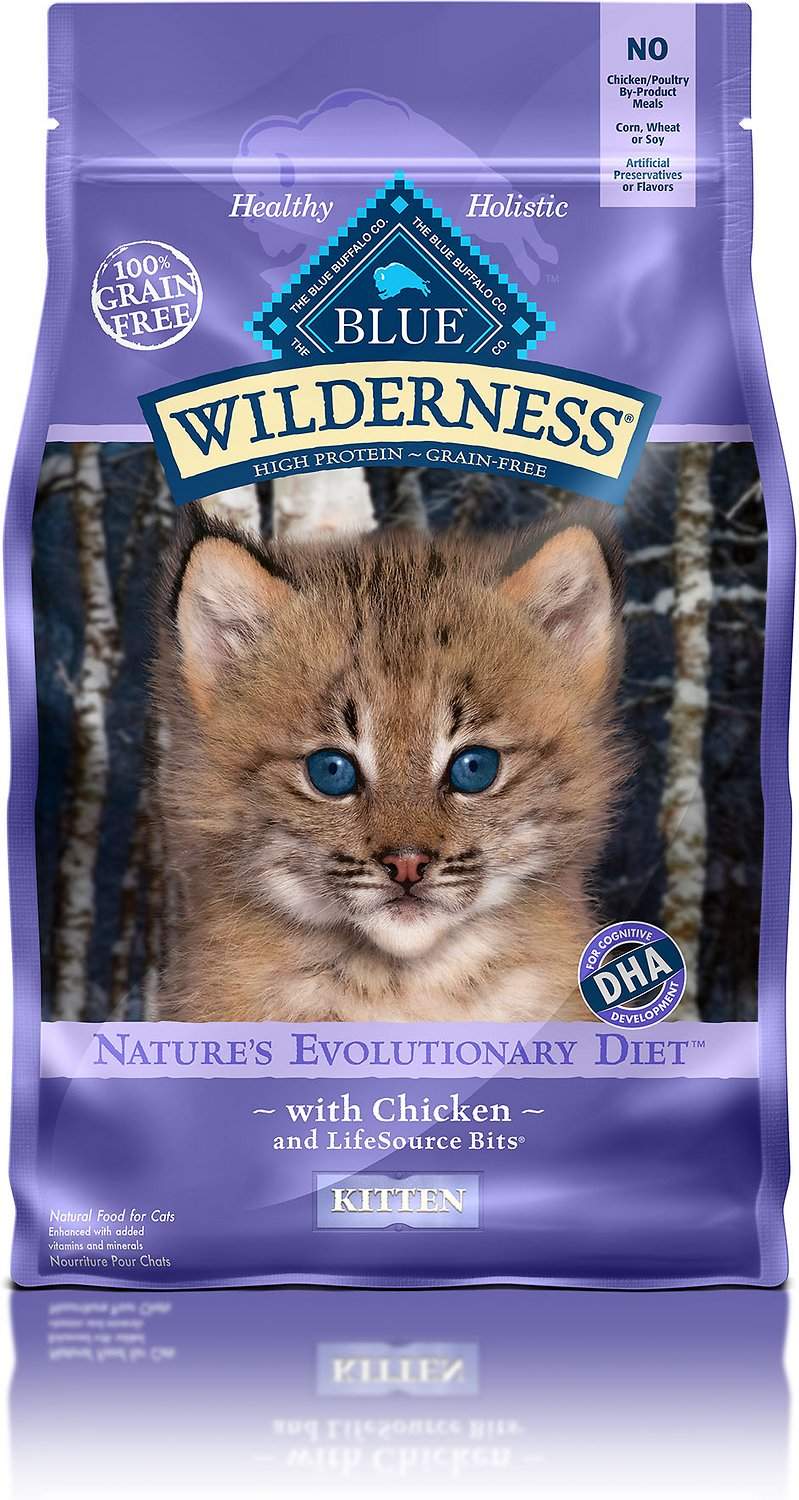 Blue Buffalo Wilderness Kitten Chicken Recipe Grain-Free Dry Cat Food Image