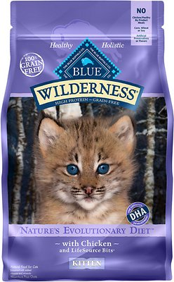 Blue Buffalo Wilderness Kitten Chicken Recipe Grain-Free Dry Cat Food, 2-lb bag