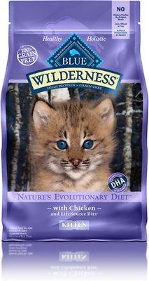 Blue Buffalo Wilderness Kitten Chicken Recipe Grain-Free Dry Cat Food, 5-lb bag