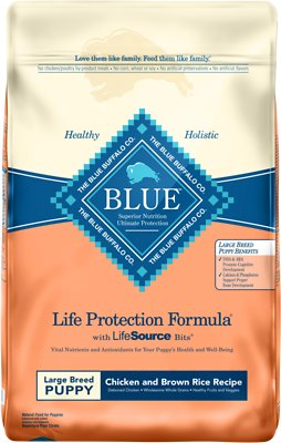 Blue Buffalo Life Protection Formula Large Breed Puppy Chicken & Brown Rice Recipe Dry Dog Food, 15-lb bag