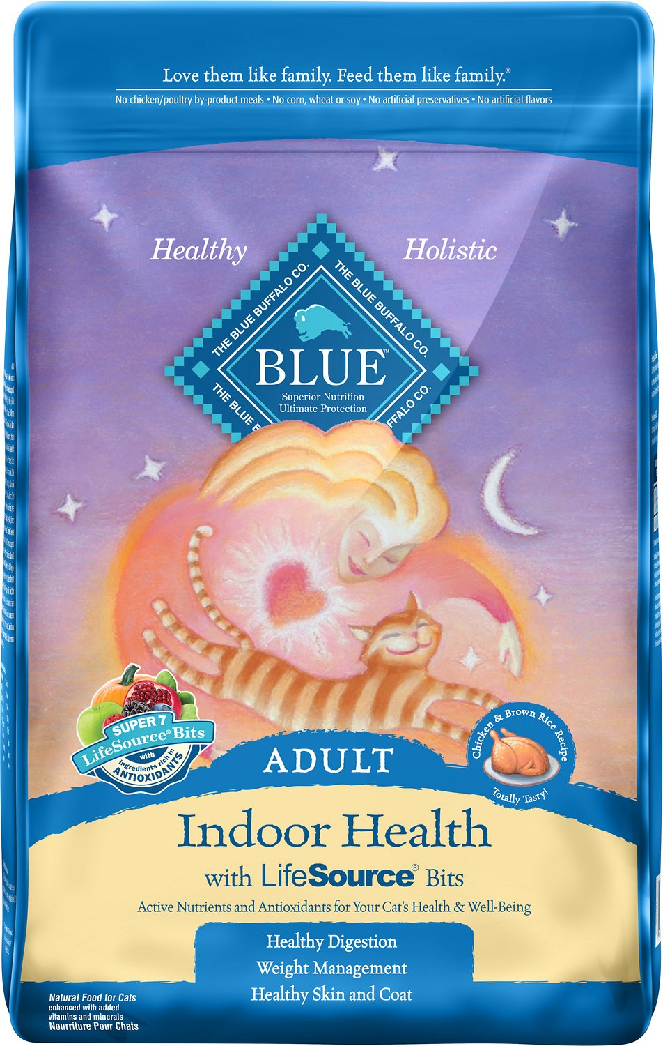 Blue Buffalo Indoor Health Chicken & Brown Rice Recipe Adult Dry Cat Food Image