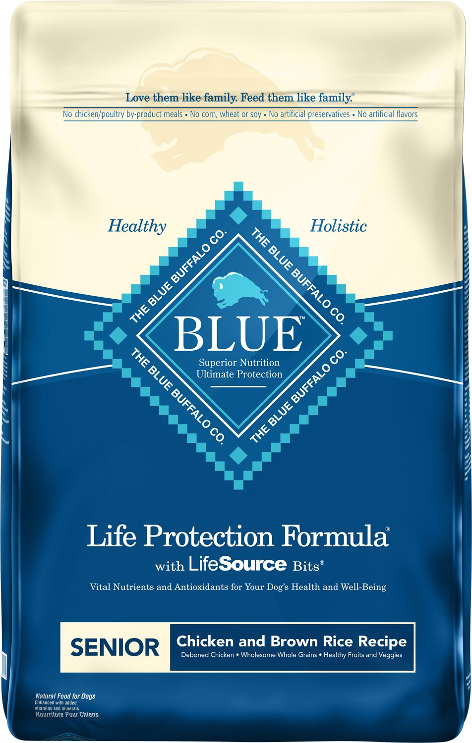 Blue Buffalo Life Protection Formula Senior Chicken & Brown Rice Recipe Dry Dog Food Image