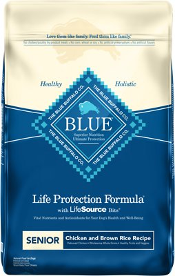 Blue Buffalo Life Protection Formula Senior Chicken & Brown Rice Recipe Dry Dog Food, 30-lb bag