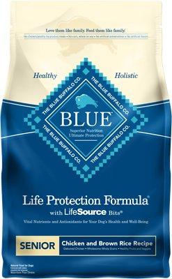 Blue Buffalo Life Protection Formula Senior Chicken & Brown Rice Recipe Dry Dog Food, 6-lb bag
