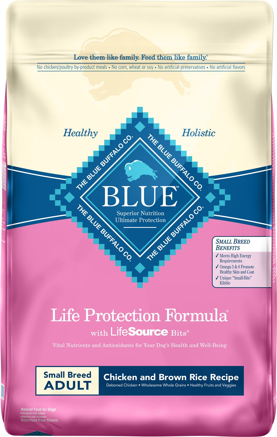Blue Buffalo Life Protection Formula Small Breed Adult Chicken & Brown Rice Recipe Dry Dog Food Image