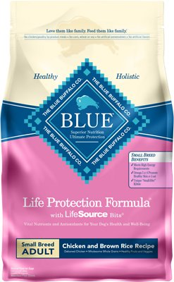 Blue Buffalo Life Protection Formula Small Breed Adult Chicken & Brown Rice Recipe Dry Dog Food, 6-lb bag