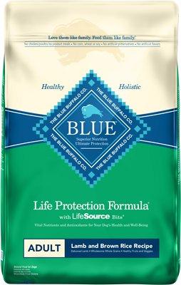 Blue Buffalo Life Protection Formula Adult Lamb & Brown Rice Recipe Dry Dog Food, 15-lb bag