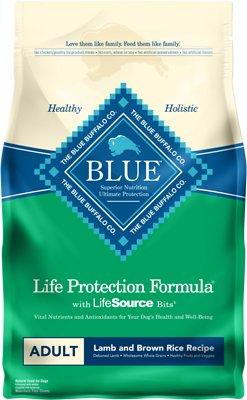Blue Buffalo Life Protection Formula Adult Lamb & Brown Rice Recipe Dry Dog Food, 6-lb bag