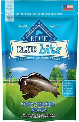 Blue Buffalo Blue Bits Tasty Chicken Recipe Soft-Moist Training Dog Treats, 4-oz bag