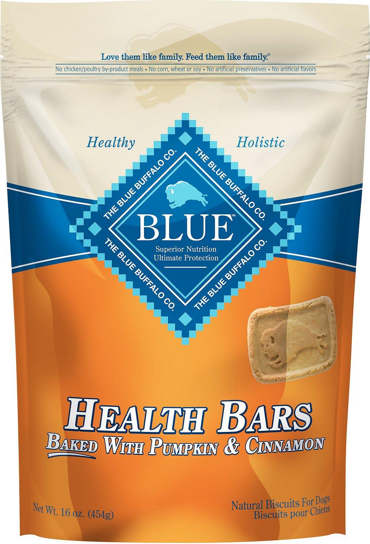 Blue Buffalo Health Bars Baked with Pumpkin & Cinnamon Dog Treats, 16-oz