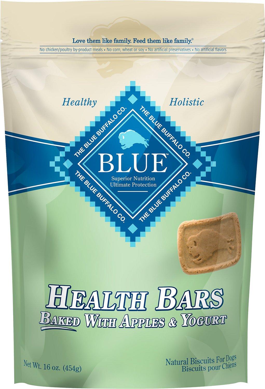 Blue Buffalo Health Bars Baked with Apples & Yogurt Dog Treats, 16-oz bag