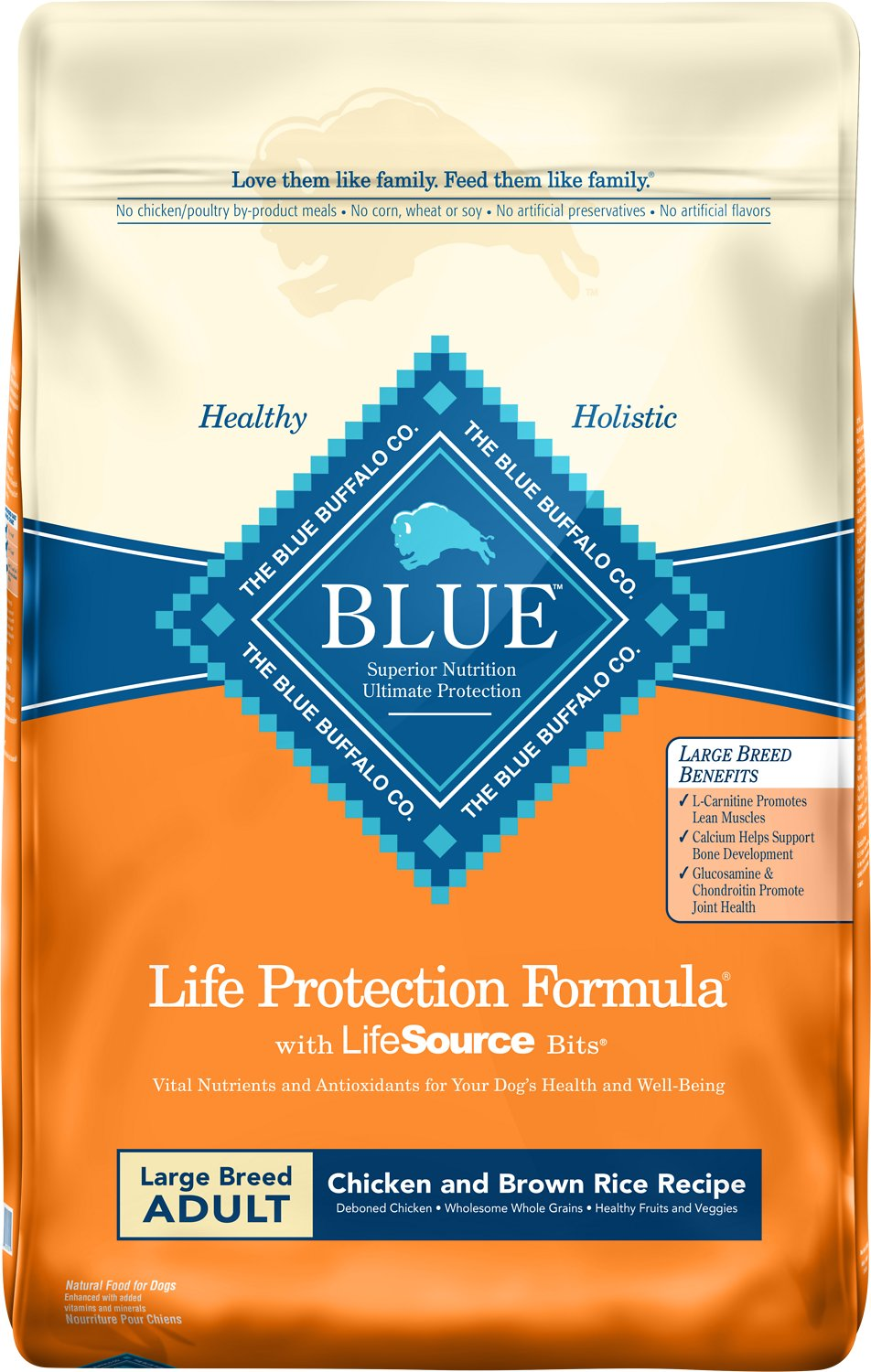 Blue Buffalo Life Protection Formula Large Breed Adult Chicken & Brown Rice Recipe Dry Dog Food Image
