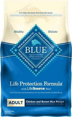 Blue Buffalo Life Protection Formula Adult Chicken & Brown Rice Recipe Dry Dog Food, 6-lb bag
