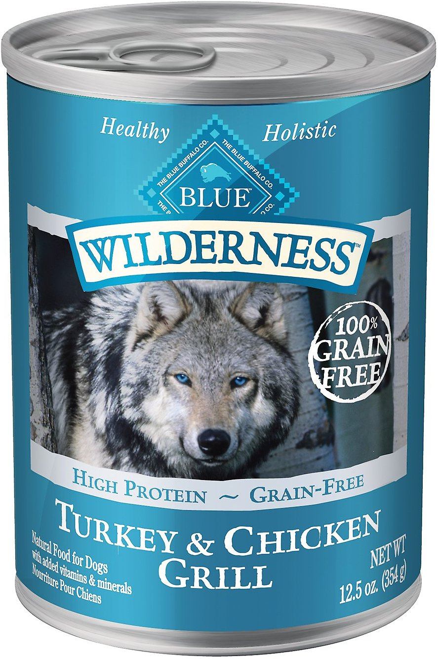 Blue Buffalo Wilderness Turkey & Chicken Grill Grain-Free Canned Dog Food Image