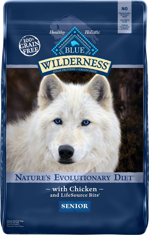 Blue Buffalo Wilderness Senior Chicken Recipe Grain-Free Dry Dog Food Image