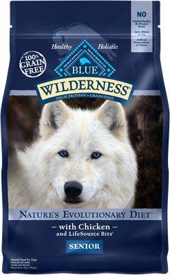 Blue Buffalo Wilderness Senior Chicken Recipe Grain-Free Dry Dog Food, 4.5-lb bag