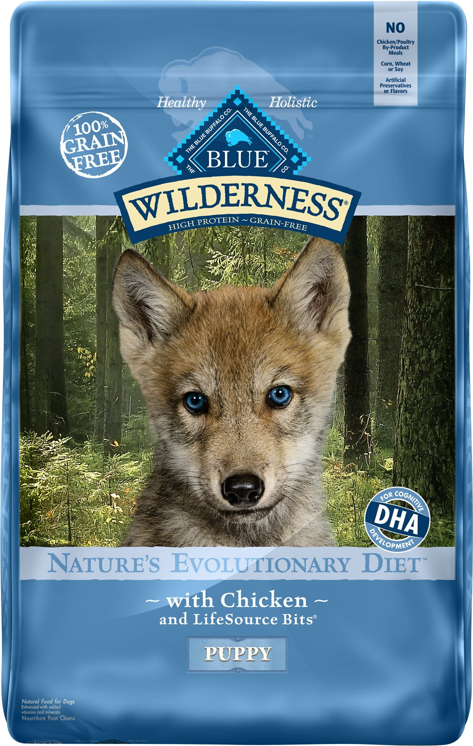 Blue Buffalo Wilderness Puppy Chicken Recipe Grain-Free Dry Dog Food Image