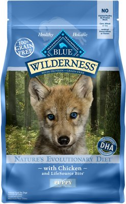 Blue Buffalo Wilderness Puppy Chicken Recipe Grain-Free Dry Dog Food, 4.5-lb bag