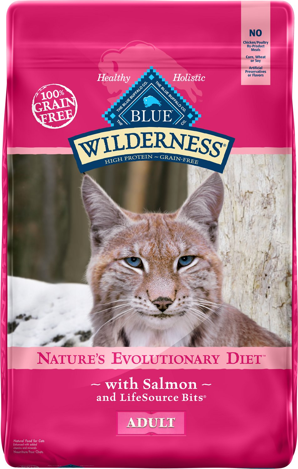 Blue Buffalo Wilderness Salmon Recipe Grain-Free Dry Cat Food Image