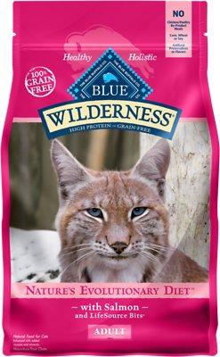 Blue Buffalo Wilderness Salmon Recipe Grain-Free Dry Cat Food, 5-lb bag