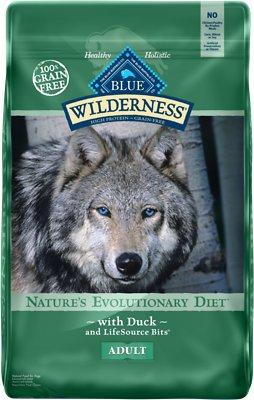 Blue Buffalo Wilderness Duck Recipe Grain-Free Dry Dog Food, 24-lb bag