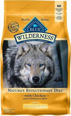 Blue Buffalo Wilderness Healthy Weight Chicken Recipe Grain-Free Dry Dog Food, 4.5-lb bag