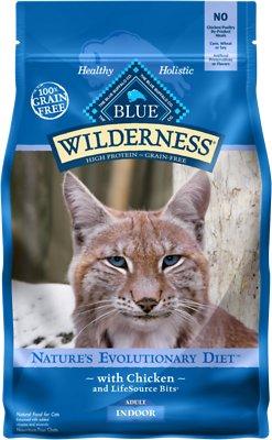 Blue Buffalo Wilderness Indoor Chicken Recipe Grain-Free Dry Cat Food, 5-lb bag