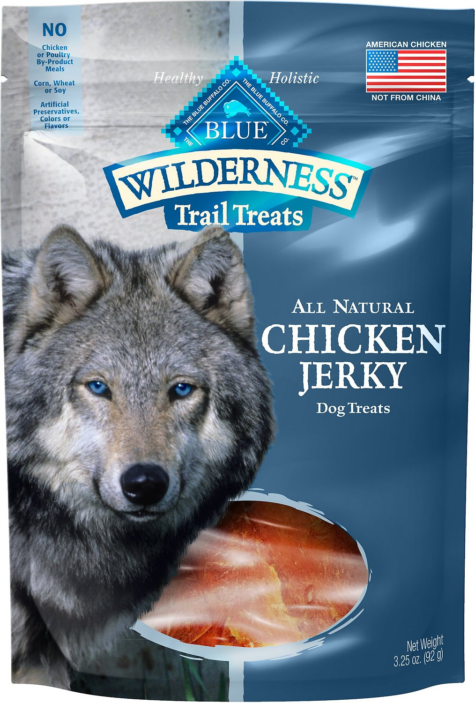 Blue Buffalo Wilderness Trail Treats Chicken Jerky Grain-Free Dog Treats, 3.25-oz