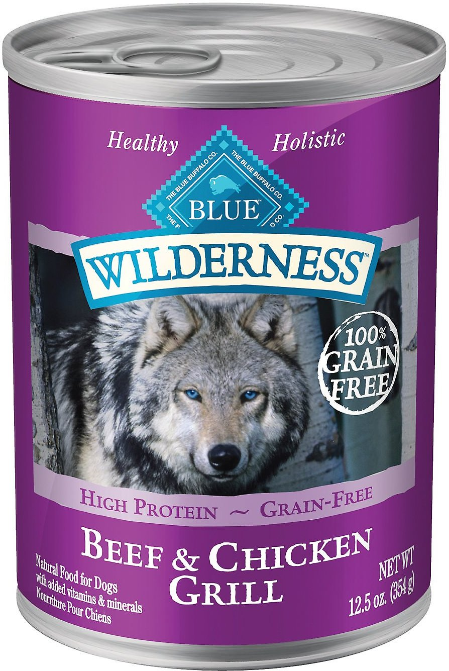 Blue Buffalo Wilderness Beef & Chicken Grill Grain-Free Canned Dog Food Image