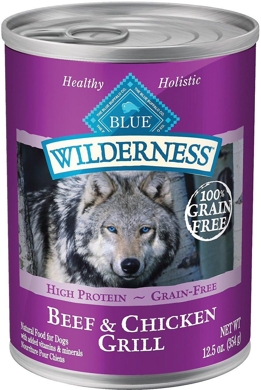 Blue Buffalo Wilderness Beef & Chicken Grill Grain-Free Canned Dog Food, 12.5-oz