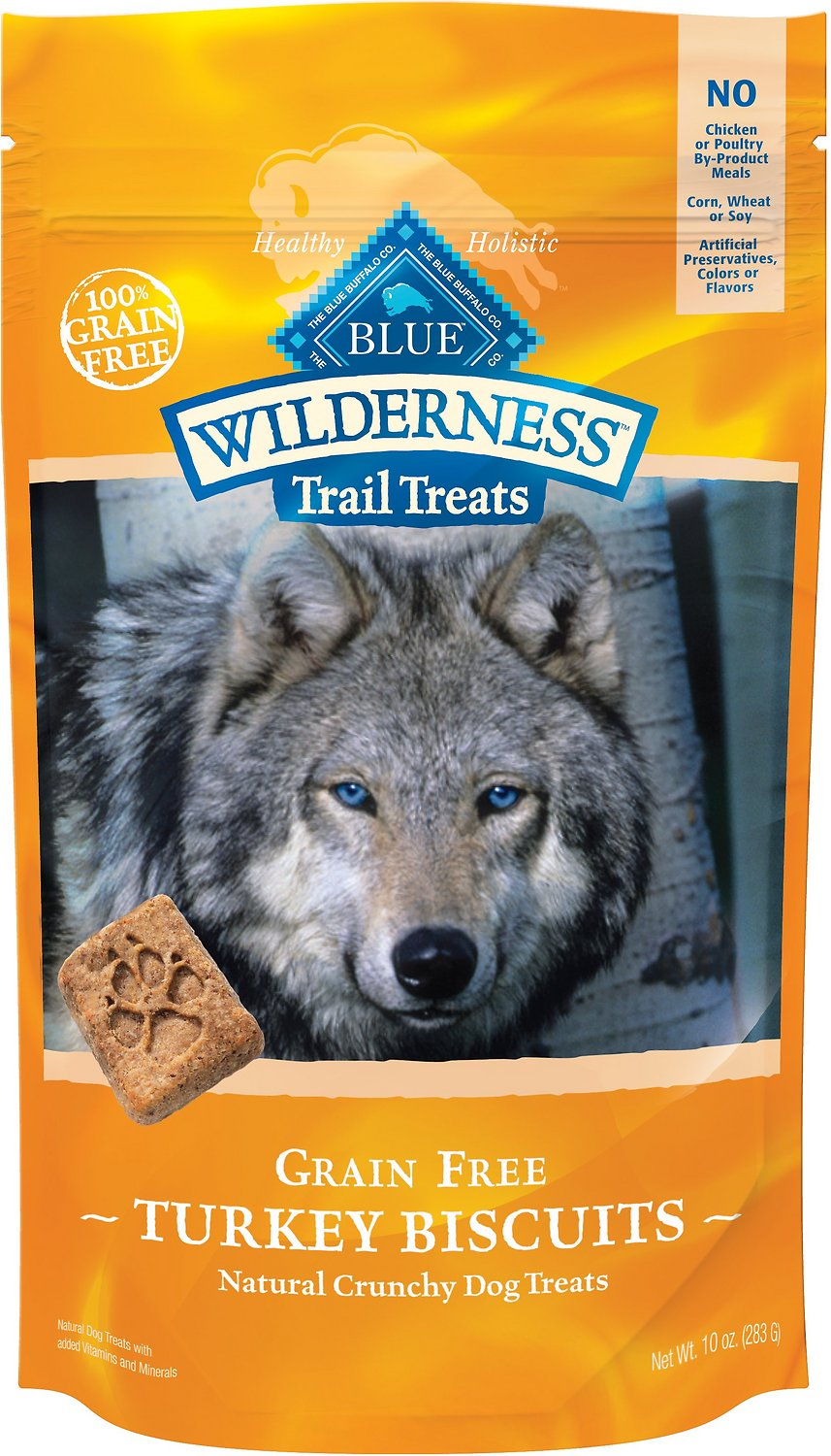 Blue Buffalo Wilderness Trail Treats Turkey Biscuits Grain-Free Dog Treats Image