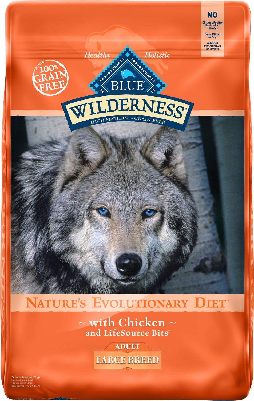 Blue Buffalo Wilderness Large Breed Chicken Recipe Grain-Free Dry Dog Food, 24-lb bag