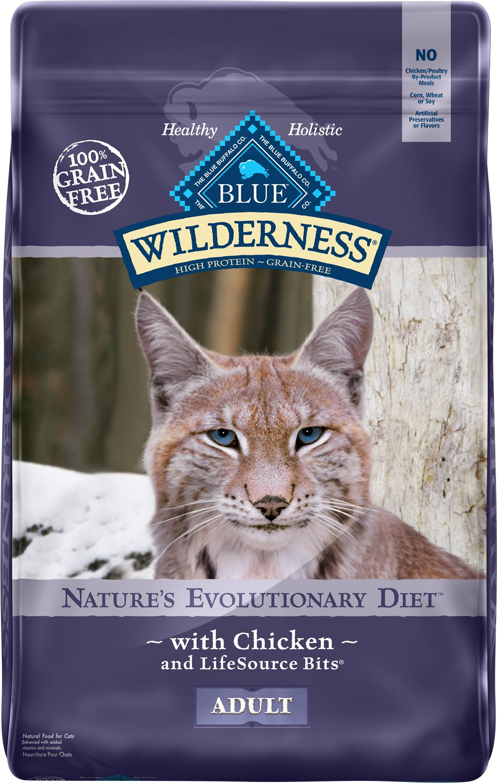 Blue Buffalo Wilderness Chicken Recipe Grain-Free Dry Cat Food Image