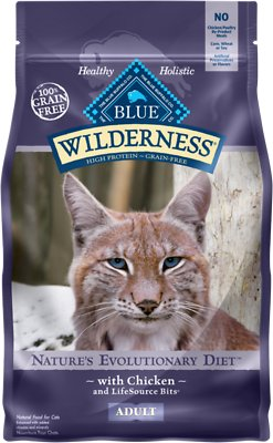Blue Buffalo Wilderness Chicken Recipe Grain-Free Dry Cat Food, 2.5-lb bag