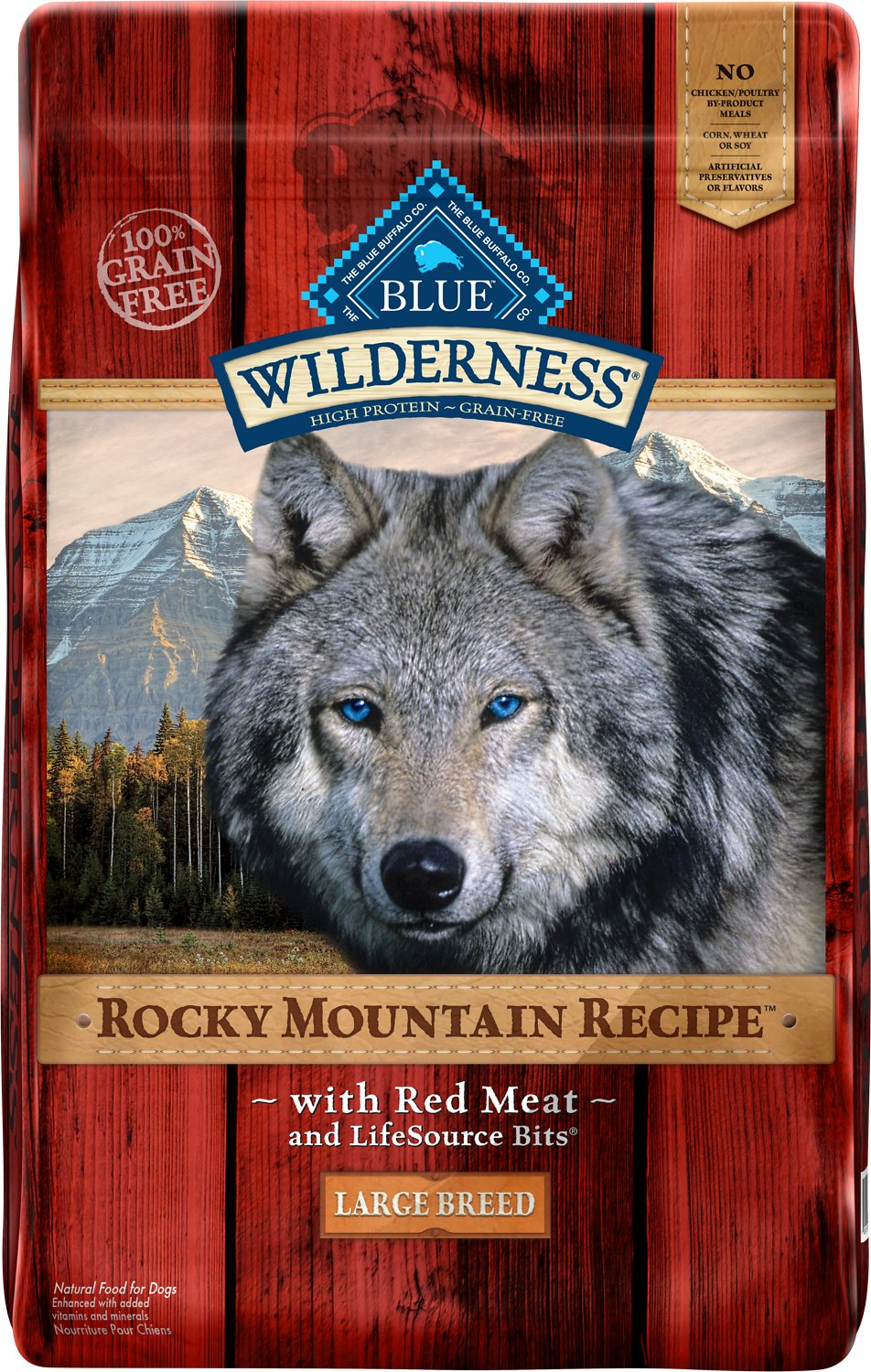 Blue Buffalo Wilderness Rocky Mountain Recipe with Red Meat Large Breed Grain-Free Dry Dog Food, 22-lb bag
