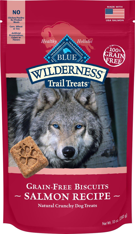 Blue Buffalo Wilderness Trail Treats Salmon Biscuits Grain-Free Dog Treats, 10-oz