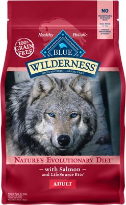 Blue Buffalo Wilderness Salmon Recipe Grain-Free Dry Dog Food, 4.5-lb bag