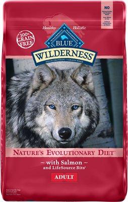 Blue Buffalo Wilderness Salmon Recipe Grain-Free Dry Dog Food, 24-lb bag