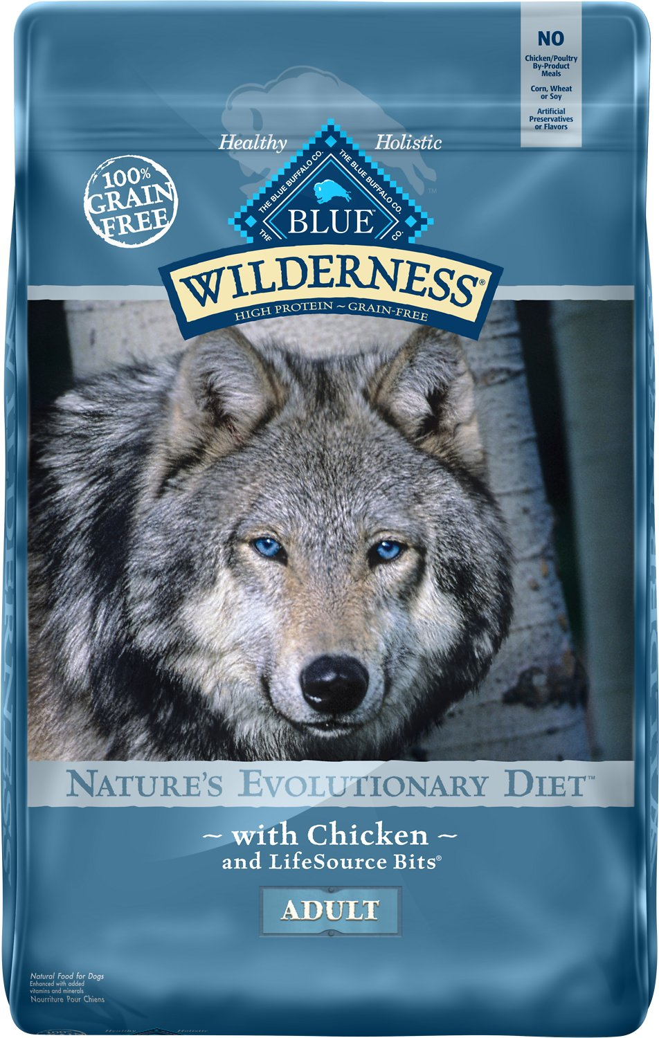 Blue Buffalo Wilderness Chicken Recipe Grain-Free Dry Dog Food Image