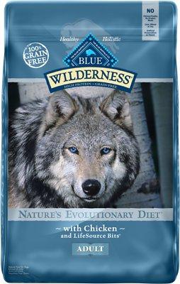 Blue Buffalo Wilderness Chicken Recipe Grain-Free Dry Dog Food, 24-lb bag