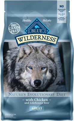 Blue Buffalo Wilderness Chicken Recipe Grain-Free Dry Dog Food, 4.5-lb bag