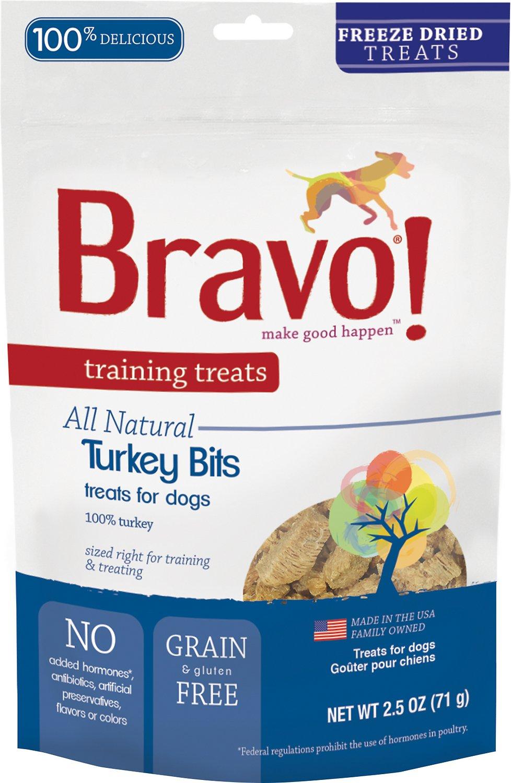 Bravo! Training Treats Turkey Bits Freeze-Dried Dog Treats, 2.5-oz bag