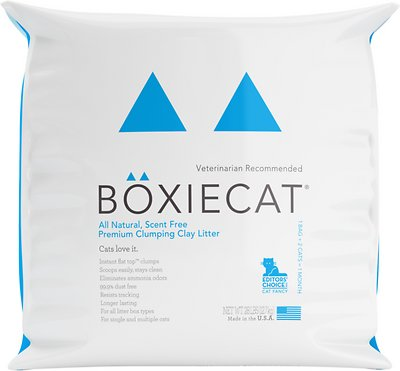 Boxiecat Scent Free Premium Clumping Clay Cat Litter, 28-lb bag