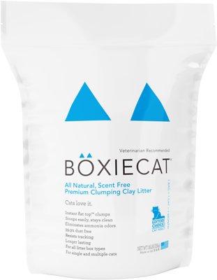 Boxiecat Scent Free Premium Clumping Clay Cat Litter, 16-lb bag