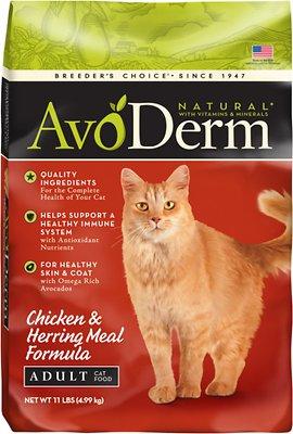 AvoDerm Natural Chicken & Herring Meal Formula Adult Dry Cat Food, 11-lb bag