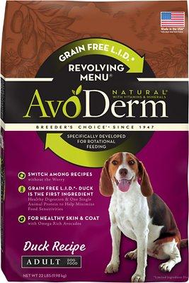 AvoDerm Natural Grain-Free Revolving Menu Duck Recipe Adult Dry Dog Food, 22-lb bag